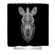 Zebra Mesh Shower Curtain
