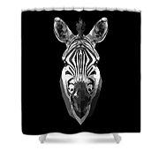 Zebra's Face Shower Curtain