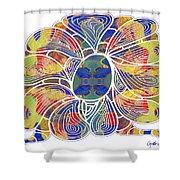 Zen Flower Abstract Meditation Digital Mixed Media Art By Omaste Witkowski Shower Curtain by Omaste Witkowski