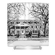 Zeta Tau Alpha Sorority House, Purdue University, West Lafayette, Indiana, Fine Art Print Shower Curtain