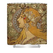 Zodiac, 1896  Shower Curtain