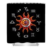 Zodiac Transparent Shower Curtain