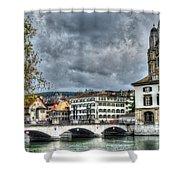 Zurich Switzerland Shower Curtain