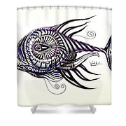 Asynchronous Hate Fish Shower Curtain