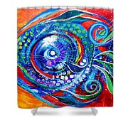 Colorful Comeback Fish Shower Curtain