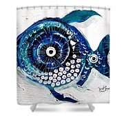 Enter The Icehole Fish Shower Curtain