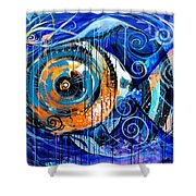 Fire Belly Shadow Shower Curtain