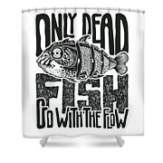 Only Dead Fish Go With The Flow Digital Art By Jumpingsack