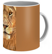 Eyes Of The Lion Portrait Coffee Mug For Sale By Adam Jewell