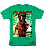 Oz Grumpy Apple Tree Men's T-Shirt  (Regular Fit) by Jo-Ann Hayden