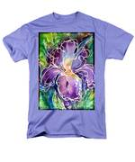Purple Iris Men's T-Shirt  (Regular Fit)