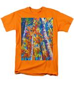 Redemption - Fall Birch And Aspen Men's T-Shirt  (Regular Fit) by Talya Johnson