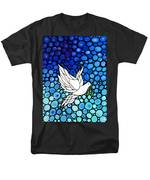 Peaceful Journey - White Dove Peace Art Men's T-Shirt  (Regular Fit) by Sharon Cummings