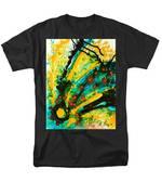 Yellow Abstract Men's T-Shirt  (Regular Fit) by Sharon Cummings