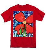 Lady In Red 2 - Buy Poppy Prints Online Men's T-Shirt  (Regular Fit) by Sharon Cummings