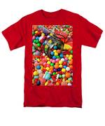 Jar Spilling Bubblegum With Candy Men's T-Shirt  (Regular Fit) by Garry Gay