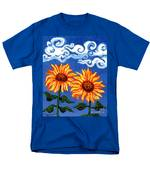 Two Sunflowers Men's T-Shirt  (Regular Fit) by Genevieve Esson