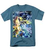 Woman Holding An Acorn -  Men's T-Shirt  (Regular Fit) by Trudi Doyle