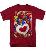 Heart Pushpin Chusion  Men's T-Shirt  (Regular Fit) by Garry Gay