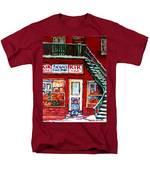 Segal's Market St.lawrence Boulevard Montreal Men's T-Shirt  (Regular Fit) by Carole Spandau