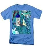 Bird People The Bluetit Family Men's T-Shirt  (Regular Fit) by Sushila Burgess