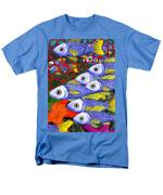Yellow Fins Men's T-Shirt  (Regular Fit) by Catherine G McElroy