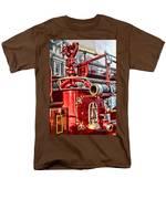 Fireman - Antique Brass Fire Hose Men's T-Shirt  (Regular Fit) by Paul Ward