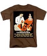 W P A  Food Hygiene Poster C. 1937 Men's T-Shirt  (Regular Fit) by Daniel Hagerman