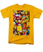 Square Button Men's T-Shirt  (Regular Fit) by Garry Gay