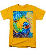 Sunshine Angelfish Men's T-Shirt  (Regular Fit) by Daniel Jean-Baptiste