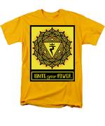 Celtic Tribal Solar Plexus Chakra Men's T-Shirt  (Regular Fit)