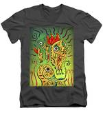 Ancient Spirit Men's V-Neck T-Shirt by Sotuland Art
