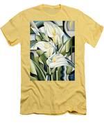 Cubist Lilies Men's T-Shirt (Athletic Fit)
