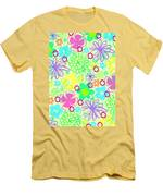 Graphic Flowers Men's T-Shirt (Athletic Fit)