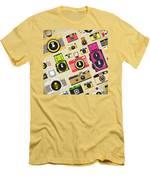 Retro Camera Pattern Men's T-Shirt (Athletic Fit)