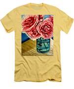 Pink Ruffled Peonies Men's T-Shirt (Athletic Fit)