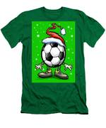 Soccer Christmas Men's T-Shirt (Athletic Fit)