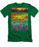 Evening Poppies Men's T-Shirt (Athletic Fit)