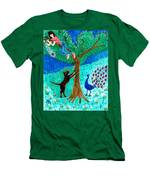 Guard Dog And Guard Peacock  Men's T-Shirt (Athletic Fit)