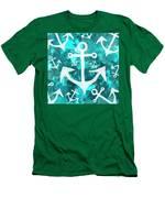Maritime Anchor Art Men's T-Shirt (Athletic Fit)