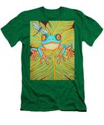Red Eyed Tree Frog And Dragonfly Men's T-Shirt (Athletic Fit)