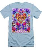 Wild Flower Heart Men's T-Shirt (Athletic Fit)