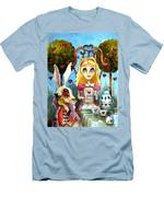 Alice And The Rabbit Having Tea... Men's T-Shirt (Athletic Fit)