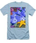 Blue Fish Men's T-Shirt (Athletic Fit)