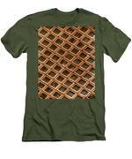 Copper Electron Micrograph Grid Men's T-Shirt (Athletic Fit)