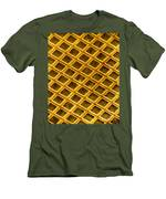 Gold Electron Micrograph Grid Men's T-Shirt (Athletic Fit)