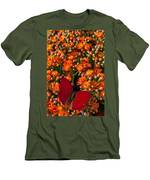 Kalanchoe Plant With Butterfly Men's T-Shirt (Athletic Fit)