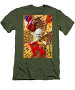 Skull And Bones With Medical Icons Men's T-Shirt (Athletic Fit)