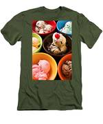 Bowls Of Different Flavor Ice Creams Men's T-Shirt (Athletic Fit)