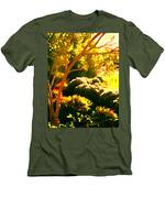 Garden Landscape On A Sunny Day Men's T-Shirt (Athletic Fit)